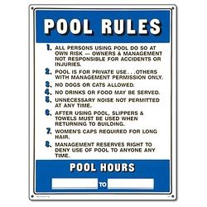 Picture of SIGN - COMMERCIAL POOL RULES PM40322