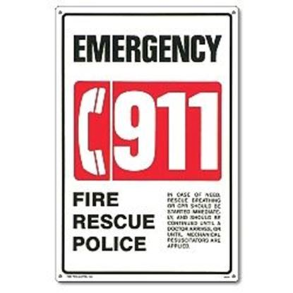 Picture of SIGN - IN. 911 IN. EMERGENCY PM40331