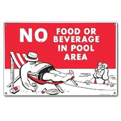 Picture of SIGN - NO FOOD OR BEVERAGES PM40369