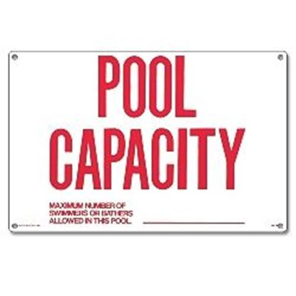 Picture of SIGN - POOL CAPACITY PM40361