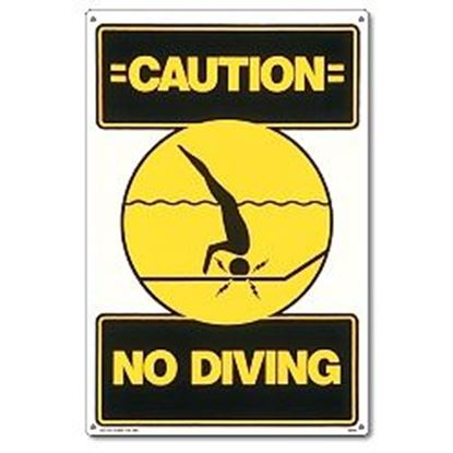 Picture of SIGN- CAUTION: NO DIVING PM40344