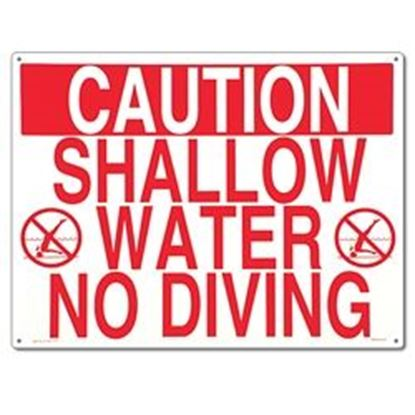 Picture of SIGN- IN. SHALLOW WATER-NO DIVING IN. PM40341