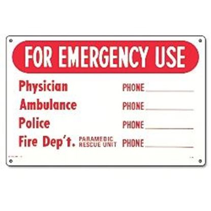 Picture of SIGN-EMERGENCY - PHONE NUMBERS PM40339