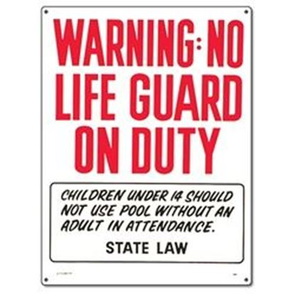 Picture of WARNING NO LIFEGUARD ON DUTY PM40323