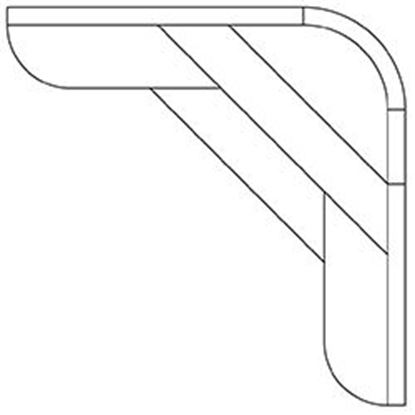 Picture of CORNER STEP W/BNCH 2 FT RADIUS CORNERS AQSSBXCS8X2R