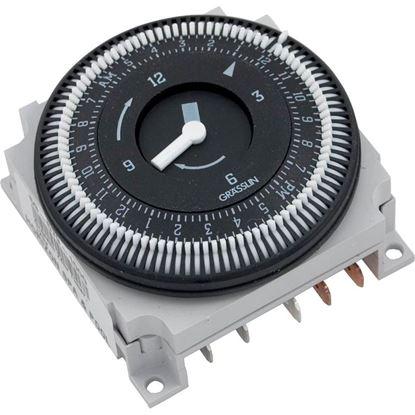 Picture of Time Clock: 110v Spdt 15amp 60hz 24 Hour 5 Lug-Fm/ 1 Stuz-120